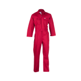 Flame Safe-100CT/CV-R-RD–Coverall, 100% Cotton, Flame Retardant
